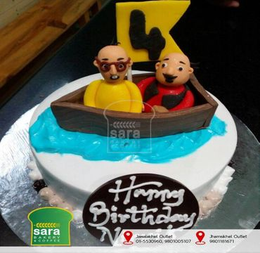Vanilla Cake with Motu Patlu HM100