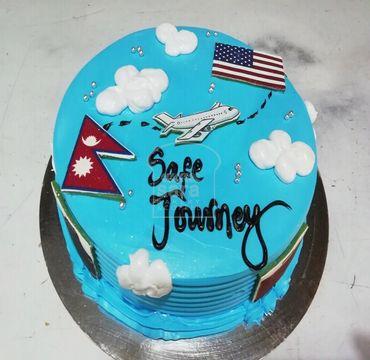 Safe Journey Farewell Vanilla Cake FW100
