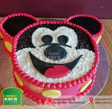Strawberry Mickey Mouse Design Cake HR010