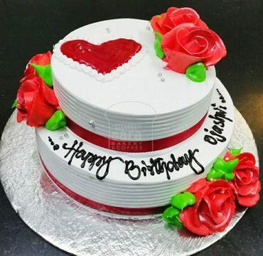 Double Deck Vanilla Rose Cake EA103