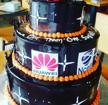 Chocolate Cake for Corporate Celebrations with Logos OC101