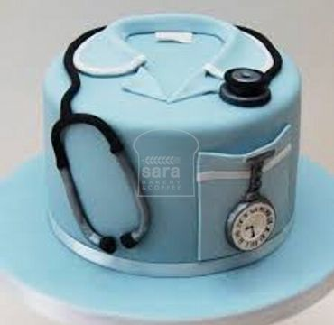 Fondant Cake for Medical Doctor MD101