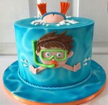Chocolate Snorkelling Fondant Cake HM126