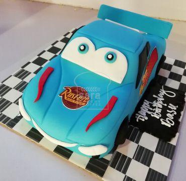McQueen Theme Fondant Cake HM130