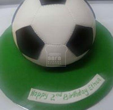 Vanilla Football Theme Cake SP121