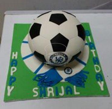 Chelsea Logo print on Football Cake SP117