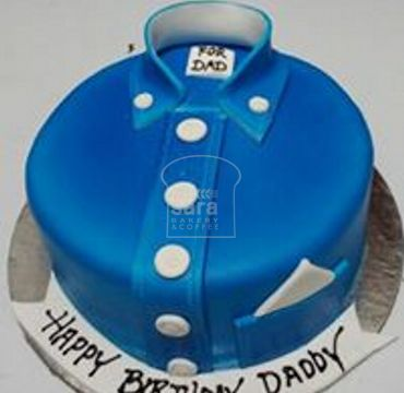 Blue Shirt Fondant Cake for Dad FD102