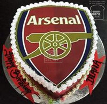 Arsenal Logo Print Cake SP112