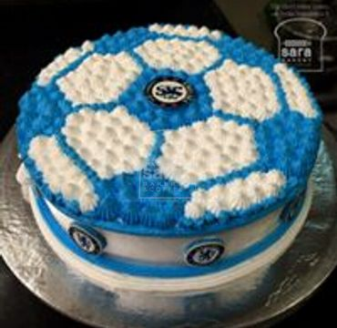 Football Cream Cake SP111