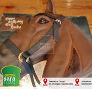 Horse Theme Cake HM258