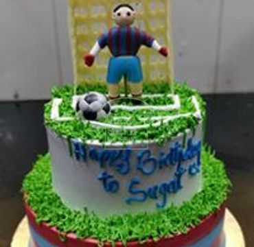 Football Theme Cream Cake SP106