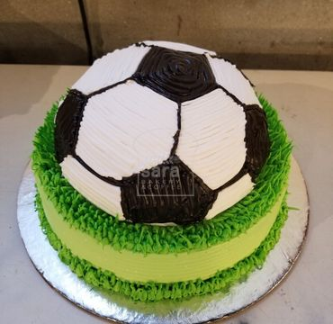 Football Theme Vanilla Cake SP105