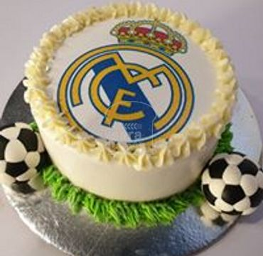 Real Madrid Logo Print Cake SP103