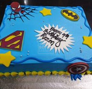 Spider-man Superman and Batman Theme cake HM283