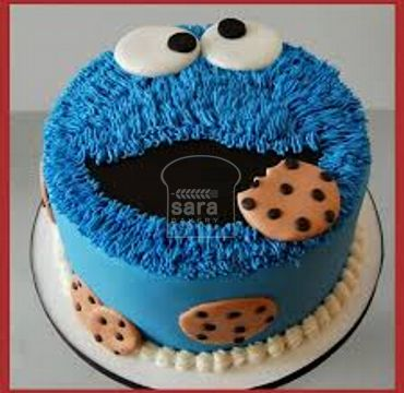 Cookie Monster Theme Cake HM289
