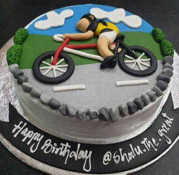 Cycling Theme Cake HM292