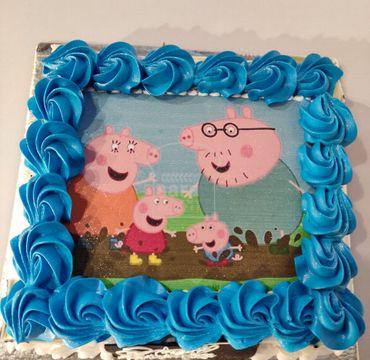 Pepp Pig Photo Print Cake HM293