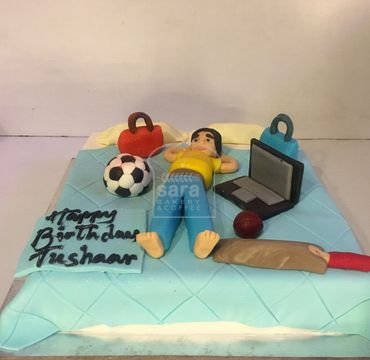 Player Sleeping on Bed Theme cake SP101