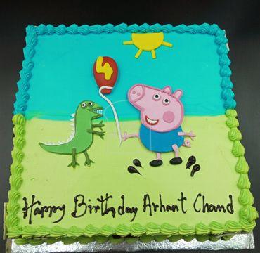Peppa Pig Theme Cake HM295