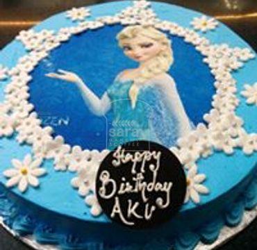 Elsa Photo Print Cake HR031