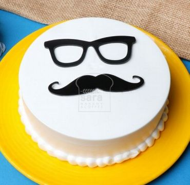 Happy Fathers Day Vanilla Cake FD105