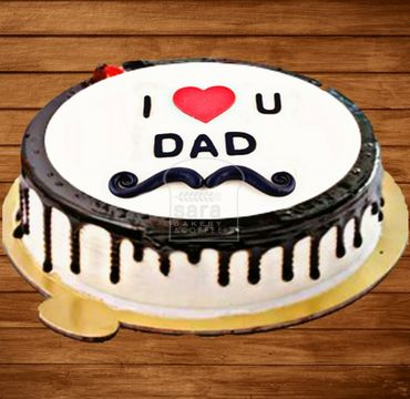 Chocolate Vanilla Cake for Dad FD106