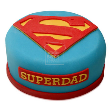 Super Dad Vanilla Fondant Cake FD112