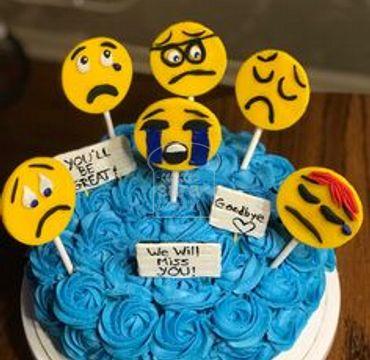 Emoji Farewell Cake FW104