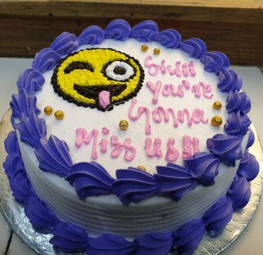 Emoji Farewell Cake FW105