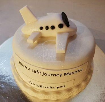 White Fondant Cake with Aeroplane FW108