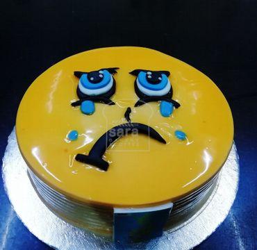Emoji Pineapple Farewell Cake FW110