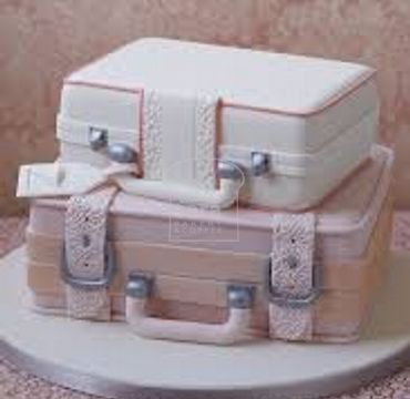 Suitcase Farewell Cake FW112