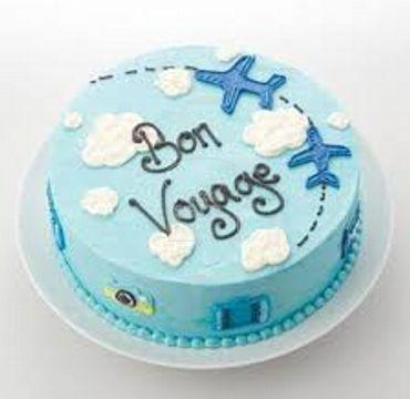 Blue Vanilla Farewell Cake FW114