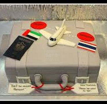 Farewell Suitcase Cake FW116