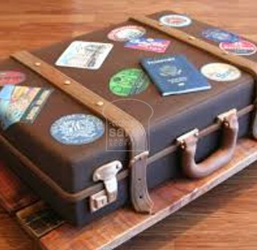 Farewell Suitcase Cake FW117