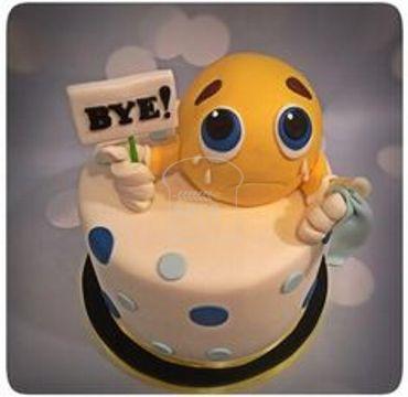 Fondant Emoji Farewell Cake FW119