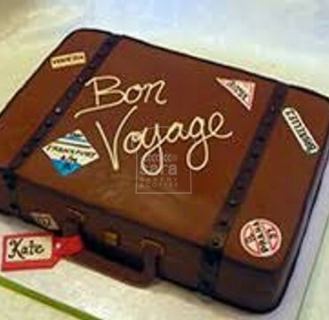 Suitcase Farewell Cake FW120