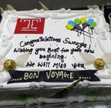 Farewell Vanilla Cake FW122