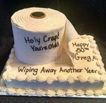 Toilet Roll Farewell Cake FW124