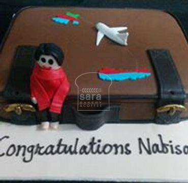 Suitcase Farewell Cake FW126