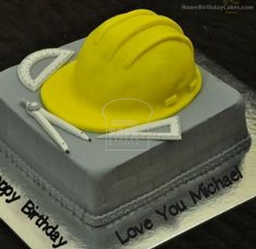 Engineer Cake with Toolbox and Helmet ER108