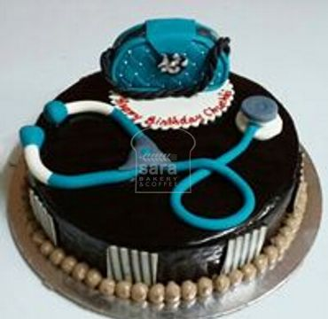 Chocolate Cake with Stethoscope and Bag MD108