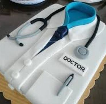 Fondant Medical Coat CAke MD111