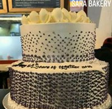 Two Tier Engagement Cake EA132