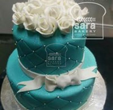 Two Tier Engagement Cake EA143