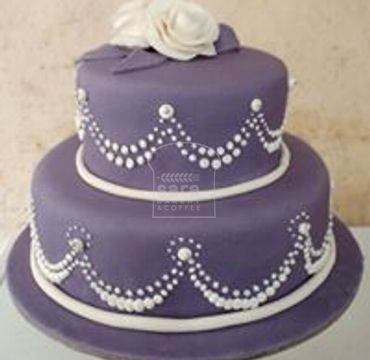Purple Fondant Engagement CAke EA145