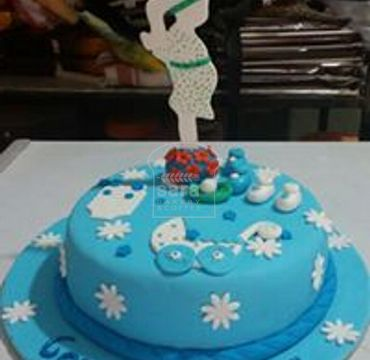 Baby Shower Cake with Mom BS108
