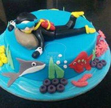 Scuba Theme Cake HR183