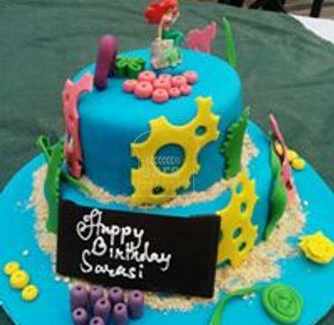 Fondant Under Sea Theme Cake HR184