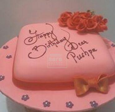 Pink Fondant Cake HR185
